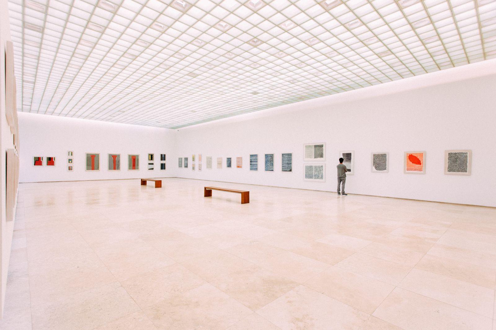 Kunst in een museum