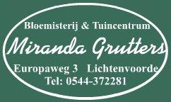 Logo Tuincentrum Miranda Grutters