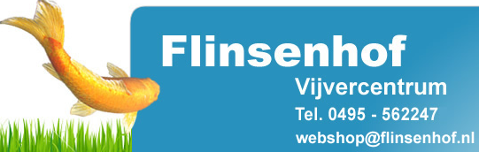 Logo tuincentrum Vijvercentrum Flinsenhof